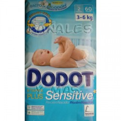 Dodot Sensitive Plus Recién Nacido Talla 2, 3-6 kg