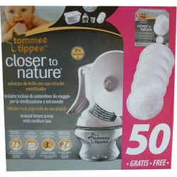 Extractor Leche Manual + 50 Discos Lactancia GRATIS Tommee Tippee Closer To Nature